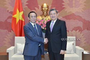 Chủ nhiệm Ủy ban Đối ngoại Nguyễn Văn giàu tiếp Đại sứ Mông Cổ tại Việt Nam Dash Bilegdorj