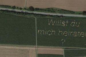 Lời cầu hôn qua Google Maps của chàng nông dân người Đức