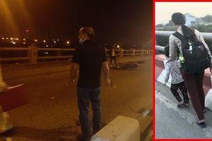 Người phụ nữ thường dắt con xin tiền ở cầu Thanh Trì bị xe máy tông chết