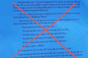 TP.HCM hủy công văn cập nhật vùng dịch COVID-19