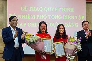 Tạp chí Xây dựng Đảng có 2 nữ phó tổng biên tập qua thi tuyển