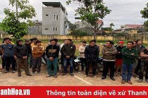 Bắt quả tang 29 đối tượng đánh bạc dưới hình thức đá gà tại huyện Triệu Sơn