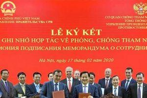 Việt Nam và Liên bang Nga hợp tác trong lĩnh vực phòng, chống tham nhũng