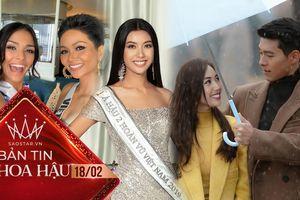 Thúy Vân 'lầy lội' khoe ảnh ôm mỹ nam Hyun Bin, H'Hen Niê kêu gọi fan ủng hộ hoa hậu Puerto Rico