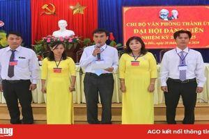 Tổ chức thành công Đại hội điểm Chi bộ trực thuộc Thành ủy Châu Đốc