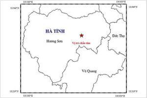 Hà Tĩnh: Động đất 2,7 độ Richter tại huyện miền núi Hương Sơn