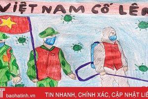Ngắm tranh vẽ phòng chống dịch Covid -19 của học sinh Hà Tĩnh
