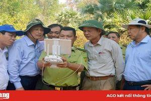 Kiểm tra tình hình hạn hán, xâm nhập mặn và công tác phòng cháy, chữa cháy rừng