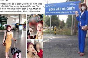Cô gái về từ Daegu bị cách ly ở Bình Dương, chụp ảnh tại Bệnh viện Dã chiến TP.HCM?!