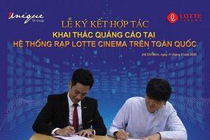 Unique bắt tay Lotte Cinema khai thác kênh quảng cáo tại rạp chiếu phim