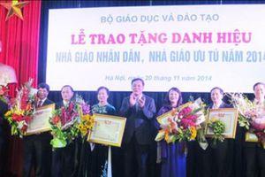 Hà Nội: Thăm dò dư luận xét tặng danh hiệu 'Nhà giáo Nhân dân, Nhà giáo Ưu tú' lần thứ 15