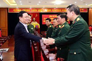 Bí thư Thành ủy Hà Nội Vương Đình Huệ làm việc với Bộ Tư lệnh Thủ đô
