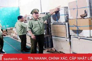 Hà Tĩnh: Bắt xe tải chở lượng lớn điều hòa, quạt điện 'second hand' từ Nam ra Bắc