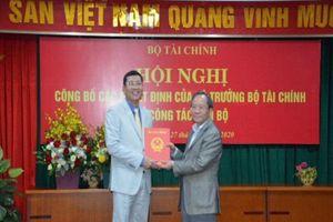 Ông Trần Huy Trường giữ chức Chánh Thanh tra Bộ Tài chính