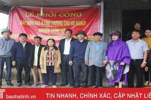 Khởi công xây dựng 6 nhà tình nghĩa cho người nghèo Thạch Hà