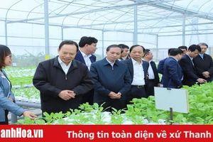Bí thư Tỉnh ủy, Chủ tịch HĐND tỉnh Trịnh Văn Chiến thăm và làm việc tại huyện Nông Cống