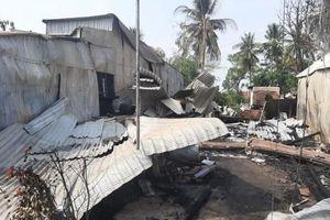 Hỏa hoạn thiêu rụi 6 căn nhà ở huyện biên giới An Giang