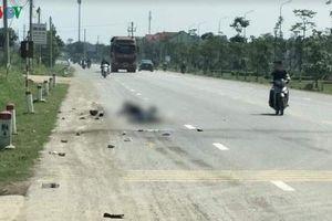 Xe tải kéo lê xe máy trên quốc lộ, mẹ và con trai tử vong tại chỗ
