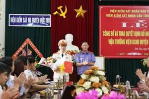 Bổ nhiệm Viện trưởng VKSND huyện Đức Thọ, Hà Tĩnh