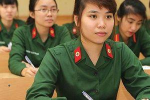 Chỉ tiêu tuyển thí sinh nữ trong các trường Quân đội năm 2020 như thế nào?