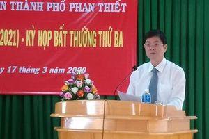 Hội đồng nhân dân TP Phan Thiết họp bất thường bầu Chủ tịch, Phó Chủ tịch UBND thành phố