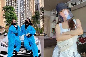 Sao Việt mặc trang phục bảo hộ sành điệu phòng chống Covid-19