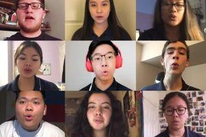Dàn hợp xướng cùng hòa âm mượt mà khi phải học online vì dịch