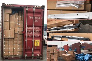 Phát hiện container chở phụ kiện ô tô Trung Quốc không khai hải quan