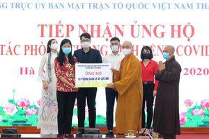 Hà Nội tiếp tục tiếp nhận trị giá hơn 4 tỷ đồng ủng hộ phòng, chống dịch Covid-19