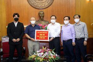Thầy trò HLV ParK Hang-seo góp sức chống đại dịch