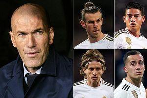 Real Madrid làm mới đội hình, Zidane muốn 'trảm' 5 ngôi sao