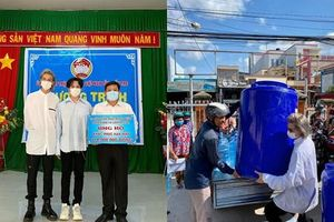 Nguyễn Trần Trung Quân - Denis Đặng xuống Bến Tre trao tặng nước ngọt cho bà con gặp hạn