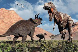 Tái hiện trận chiến giữa khủng long bạo chúa và tam giác long