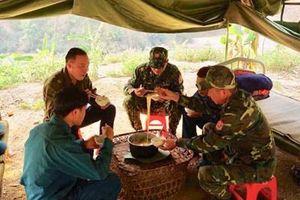 Học viên Học viện Biên Phòng tăng cường cho lực lượng chống dịch ở biên giới