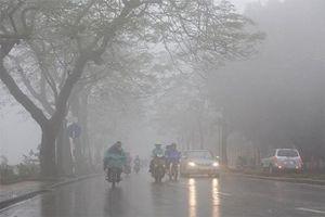 Các tỉnh miền Bắc mưa phùn và sương mù diện rộng, Hà Nội đón rét nàng Bân