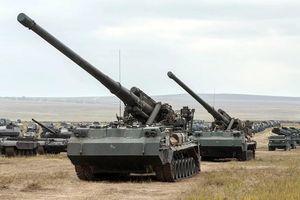 Pháo tự hành 'Hoa Mẫu Đơn' và súng cối 'Tulip thép' phô diễn sức mạnh ở Bắc Kavkaz