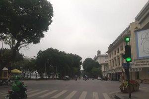 Những hình ảnh đường phố Thủ đô Hà Nội trong buổi sáng 1-4