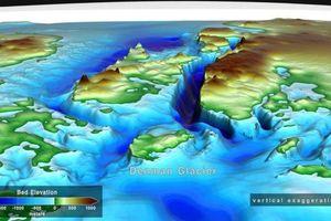 Sông băng Denman ở Nam Cực đang tụt vào hẻm núi sâu nhất thế giới