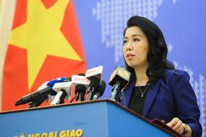 Trao công hàm phản đối tàu hải cảnh Trung Quốc đâm chìm tàu cá Việt Nam