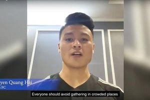 AFC chọn Quang Hải truyền cảm hứng chống dịch Covid-19: Xuất hiện 6 giây, nói tiếng Việt