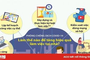 Phòng chống dịch COVID-19: Làm thế nào để tăng hiệu quả làm việc ở nhà
