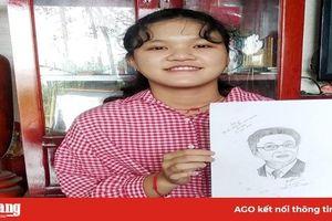 Học sinh Trường THPT Chu Văn An vẽ chân dung tặng Phó Thủ tướng Vũ Đức Đam