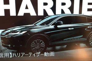 Toyota Harrier 2020 lộ diện với ngoại hình như SUV coupe hạng sang