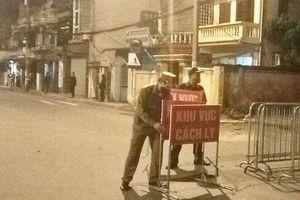 Dừng phong tỏa và cách ly các hộ dân tại phố Đức Giang (quận Long Biên)