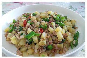 Khoai tây xào thịt bằm, món ăn đơn giản rất ngon cơm