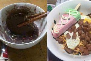 'Hết hồn' với những pha kết hợp đồ ăn của dân mạng: Hết socola chấm nước mắm đến bánh mì phết kem… đánh răng