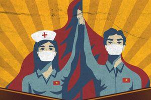 Báo Anh ấn tượng tranh cổ động của họa sỹ Việt trong cuộc chiến chống COVID-19