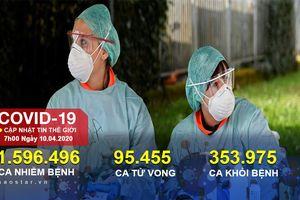 Hơn 95.000 người chết vì COVID-19 toàn cầu, Thủ tướng Anh rời phòng chăm sóc đặc biệt