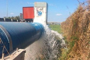 Long An: NMN Nhị Thành 'bơm' gần 800.000 m3 nước ứng cứu nông nghiệp