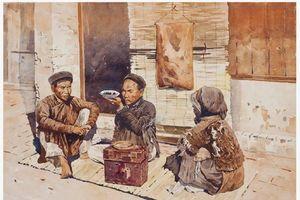 Cảnh sinh hoạt miền Bắc thời xưa qua tranh Thang Trần Phềnh